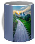 Highway Traffic Near A Big City Coffee Mug