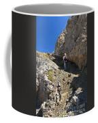 hiker in Dolomites Coffee Mug
