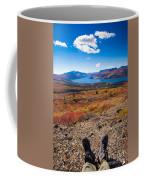 Hiker In Fall-colored Tundra Coffee Mug