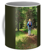 Hiker In The Forest Coffee Mug