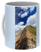 Hiker On Mountain Ridge Coffee Mug