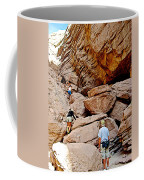 Hikers Enter Ladder Canyon From Big Painted Canyons Trail In Mecca Hills-ca  Coffee Mug