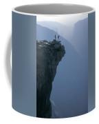 M-m6743-hikers On Half Dome's Lip Coffee Mug