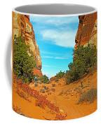 Hiking Between Massive Needles In Needles District Of Canyonlands National Park-utah Coffee Mug