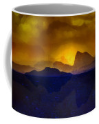 Hills In The Distance At Sunset Coffee Mug