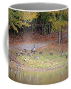Hillside Of Canadian Geese Coffee Mug