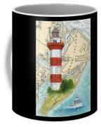 Hilton Head Island Lighthouse Sc Nautical Chart Map Art Cathy Peek Coffee Mug
