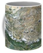 Himalaya Mountains Asia True Colour Satellite Image  Coffee Mug