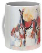 Hinds In Winter Coffee Mug