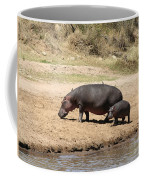 Hippo Mum And Calf Coffee Mug