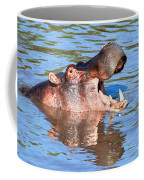 Hippo With Open Mouth In River. Serengeti. Tanzania Coffee Mug