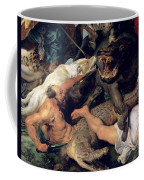 Hippopotamus And Crocodile Hunt, C.1615-16 Oil On Canvas Detail See Also 156517 Coffee Mug
