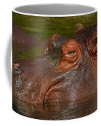 Hippopotamus With Its Head Just Above Water Coffee Mug