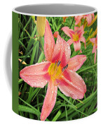 Hiroko Pink Daylily Coffee Mug