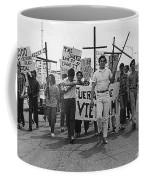 Hispanic Anti-viet Nam War March Tucson Arizona 1971 Black And White Coffee Mug