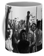 Hispanic Anti-viet Nam War Rally Tucson Arizona 1971 Black And White Coffee Mug