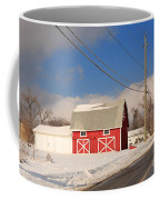 Historic Red Barn On A Snowy Winter Day Coffee Mug