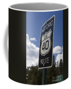 Historic Route Us 40 Sign Coffee Mug