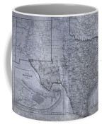 Historic Texas Map Coffee Mug by Dan Sproul