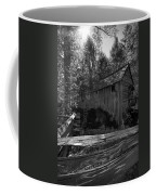 Historical 1868 Cades Cove Cable Mill In Black And White Coffee Mug