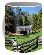 Historical Cantilever Barn At Cades Cove Tennessee Coffee Mug by Kathy Clark