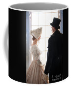 Historical Couple Standing By A Window Coffee Mug