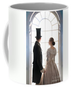 Historical Couple Standing In An Arched Window Coffee Mug