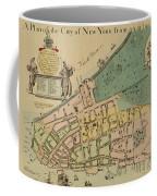 Historical Manhattan Map 1728 Coffee Mug
