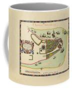 Historical Map Of Manhattan 1661 Coffee Mug