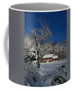 Historical Society House In The Snow Coffee Mug