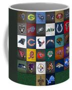 Hit The Gridiron Football League Retro Team Logos Recycled Vintage License Plate Art Coffee Mug