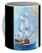 Hms Endeavour Tall Sailing Ship Chart Map Art Peek Coffee Mug