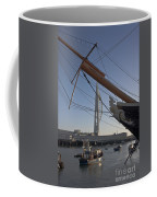 Hms Warrior Viewing The Spinnaker Tower Coffee Mug