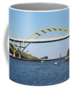 Hoan Bridge Boats Light House 1 Coffee Mug