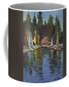 Hobie Cats At Lake Arrowhead Coffee Mug