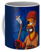 Hockey Homer Coffee Mug by Marlon Huynh