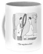 Holding A Gigantic Magnifying Glass Coffee Mug