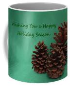 Holiday Pine Cones Coffee Mug