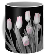 Holland Tulips In Black And White With Pink Coffee Mug