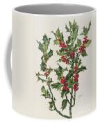 Holly Coffee Mug by Alice Bailly