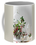Holly And Berries Birdcage Coffee Mug