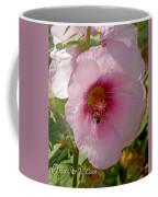 Hollyhock And Bee Coffee Mug