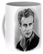 Hollywood Greats James Dean Coffee Mug by Andrew Read