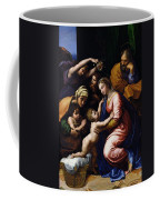 Holy Family Known As The Grande Famille Of Francois I, 1518 Oil On Canvas Coffee Mug