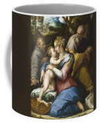 Holy Family With Saint Francis In A Landscape Coffee Mug