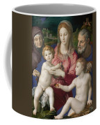 Holy Family With St. Anne And The Infant St. John Coffee Mug