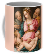 Holy Family With The Infant Saint John The Baptist And Saint Francis Coffee Mug by Giorgio Vasari
