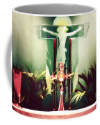 Adoration With Red Candles - Digital Painting Coffee Mug