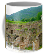 Homes Of The Rich In Central Ephesus-turkey Coffee Mug