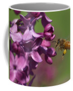 Honey Bee And Lilac Coffee Mug